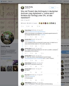 Screenshot Twitter Digitalisierung Diskussion