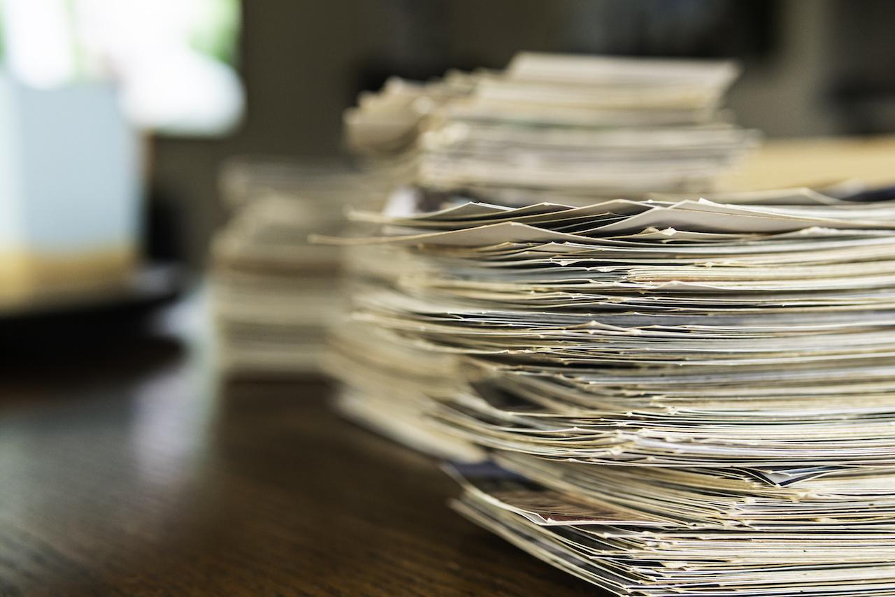 Nicht mehr aktuell für eine digitale Zukunft: Papierunterlagen
